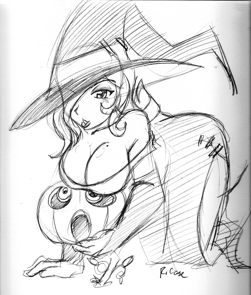 sexy Witch sketch by rongs1234