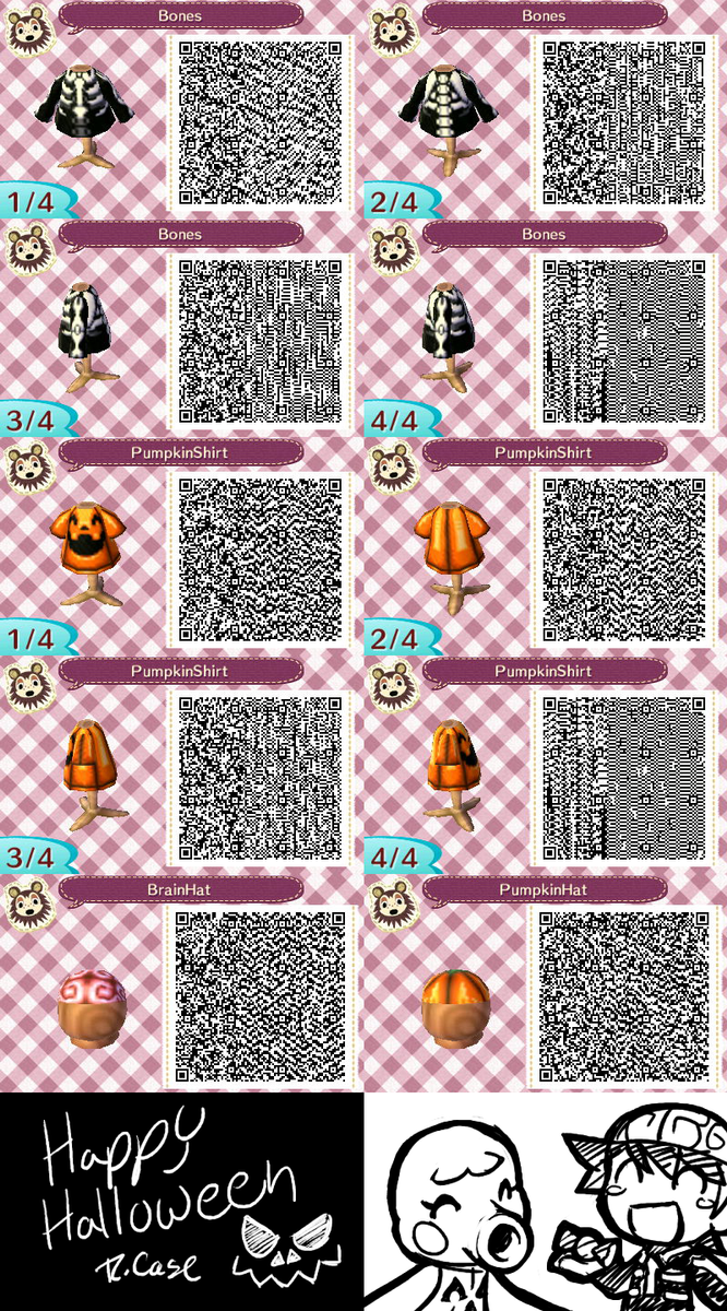Animal Crossing Halloween themed outfits QR Codes by rongs1234 on ...