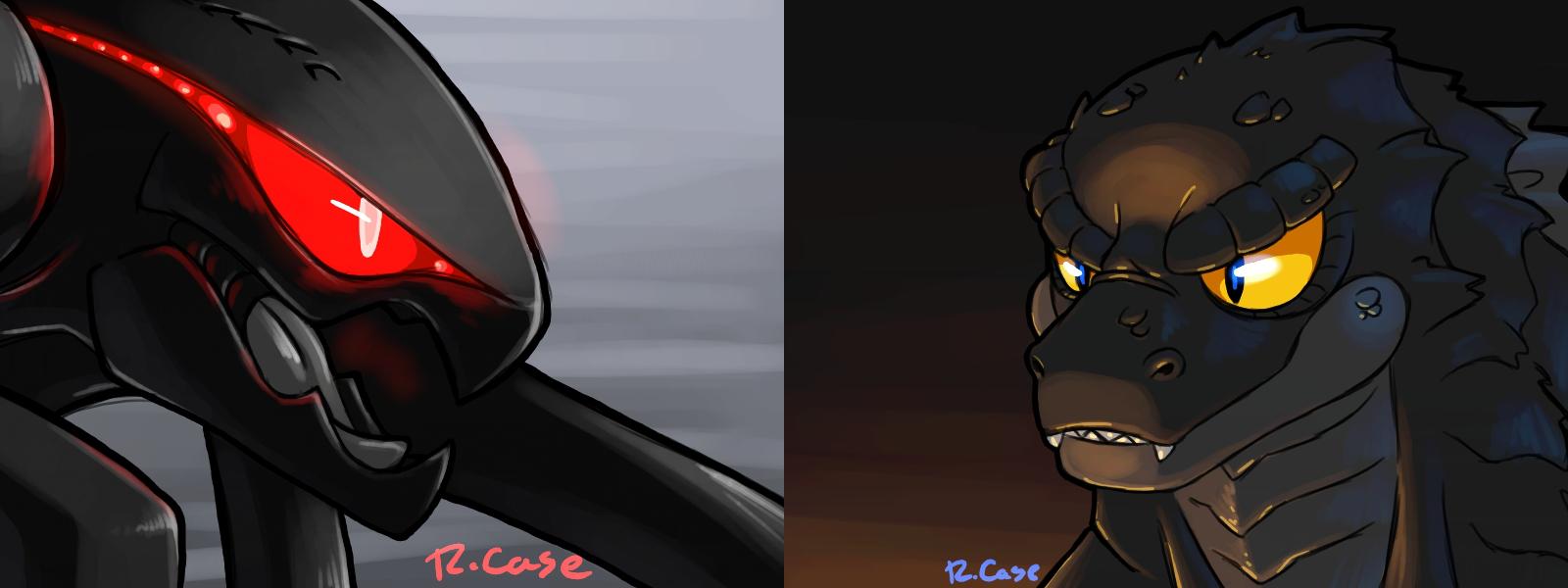 Godzilla and MUTO by rongs1234 on DeviantArt