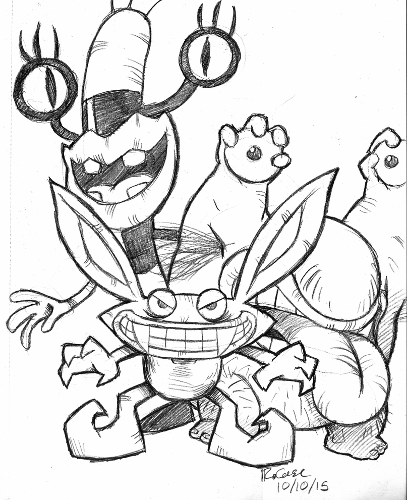 ahh real monsters coloring pages - photo#13