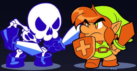 Link vs Stalfos