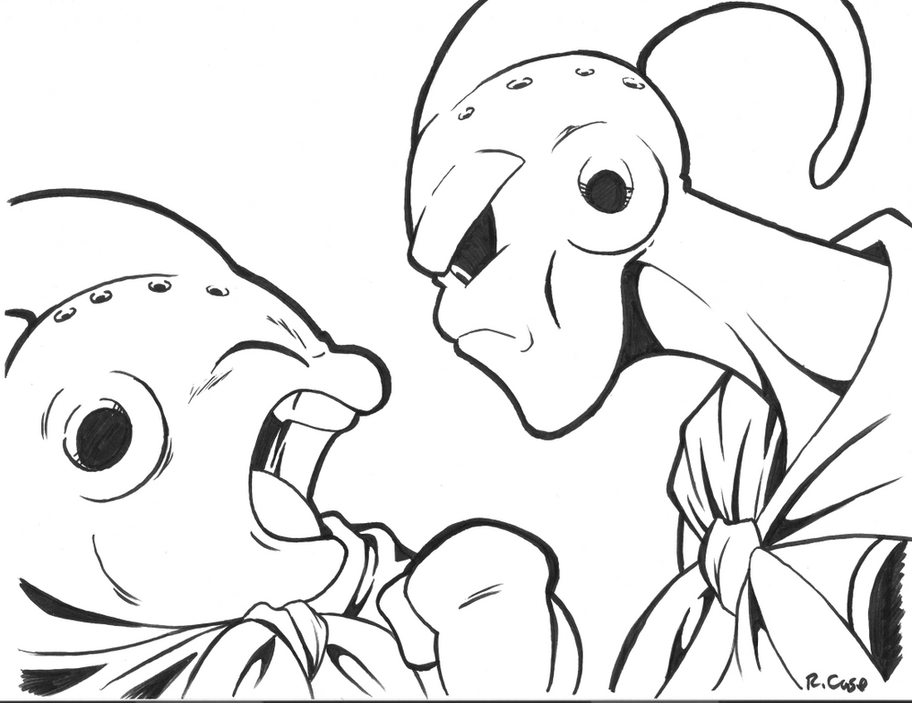 Two Dragon Coloring Pages