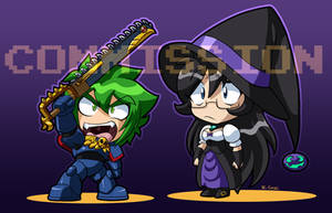 Chibi halloween pic for ryou-bakura-154 by rongs1234