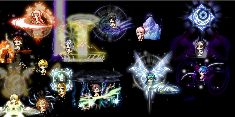 this maplestory avatar version of my characters by xPawful