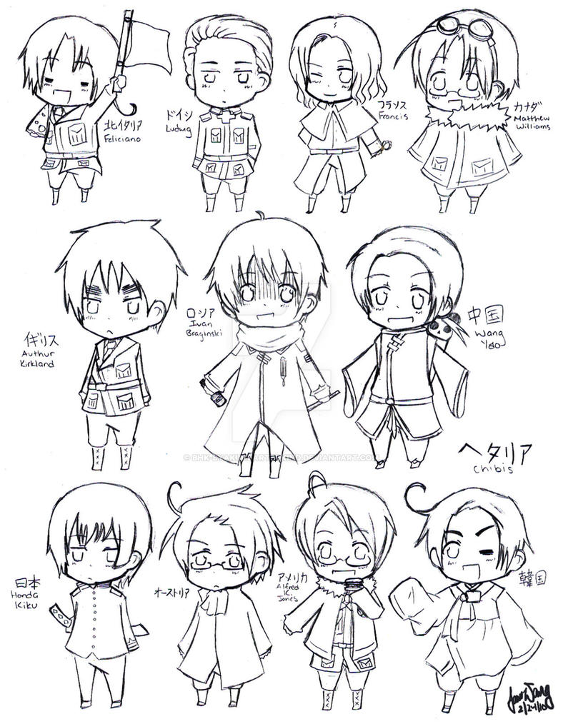 hetalia coloring pages allies - photo#17