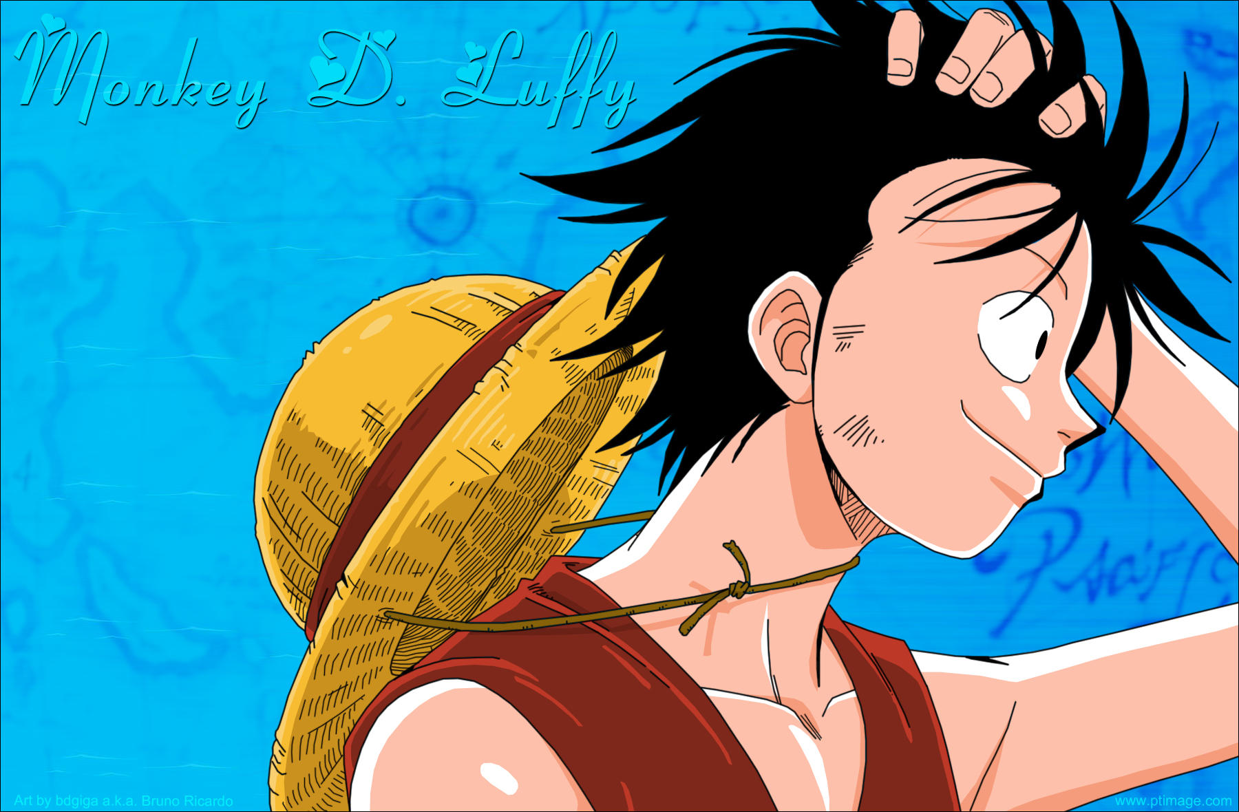 One Piece - Luffy by bdgiga