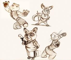 Sketch Dump - Kung Fu Panda by Mitch-el