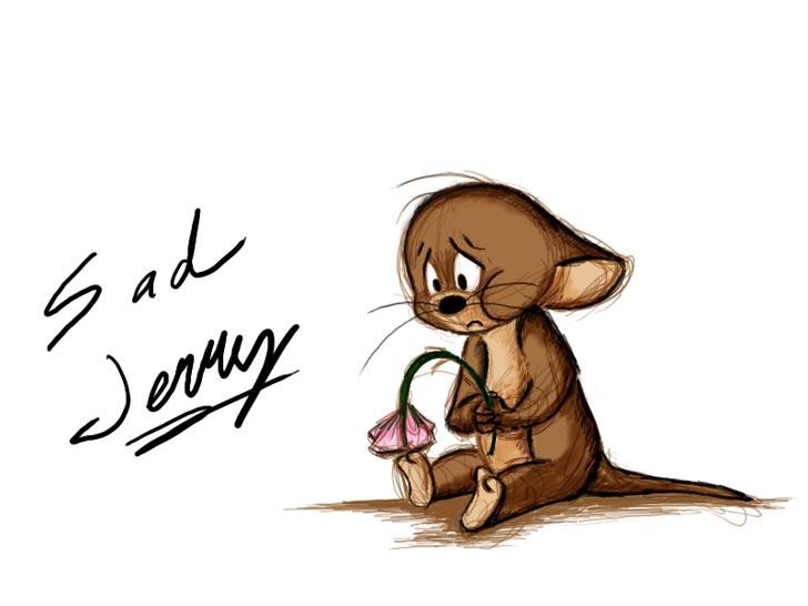 Cartoon Wallpapers Sad Jerry Wallpaper By Mitch El