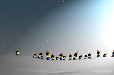 Minions in the Snow by Mitch-el