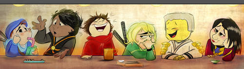 Tall Tales at the Sushi Bar by Mitch-el