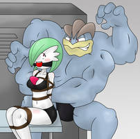 Machamp vs Gardevoir by GagManZX