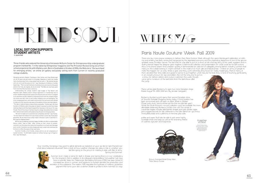 Magazine Layout by awsmkid on DeviantArt