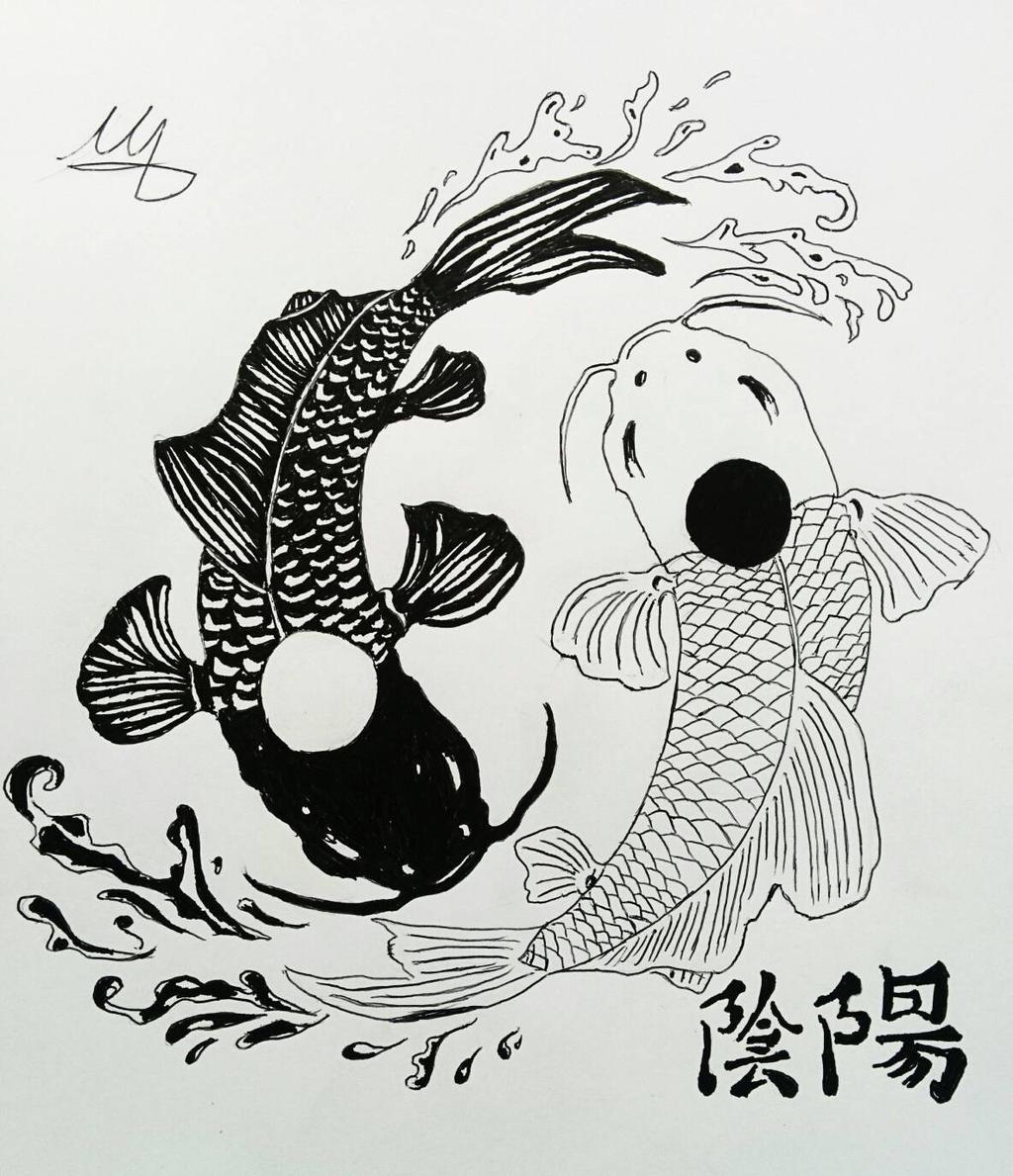 yin yang koi fish by martynes9n on deviantart. Black Bedroom Furniture Sets. Home Design Ideas