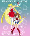 Sailor Sakura and Usagi Card C by diegoserpa