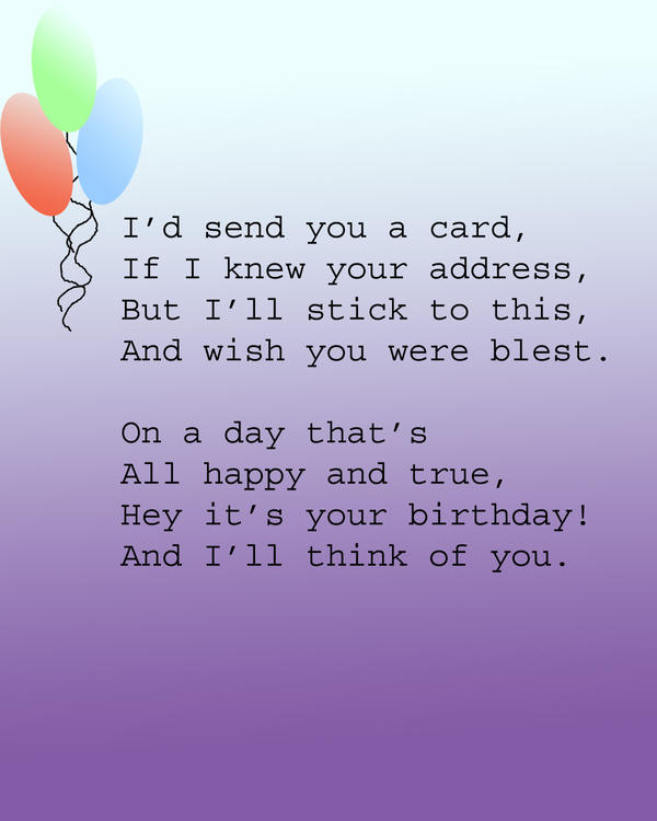 birthday poem by dolphin dreamer on deviantart