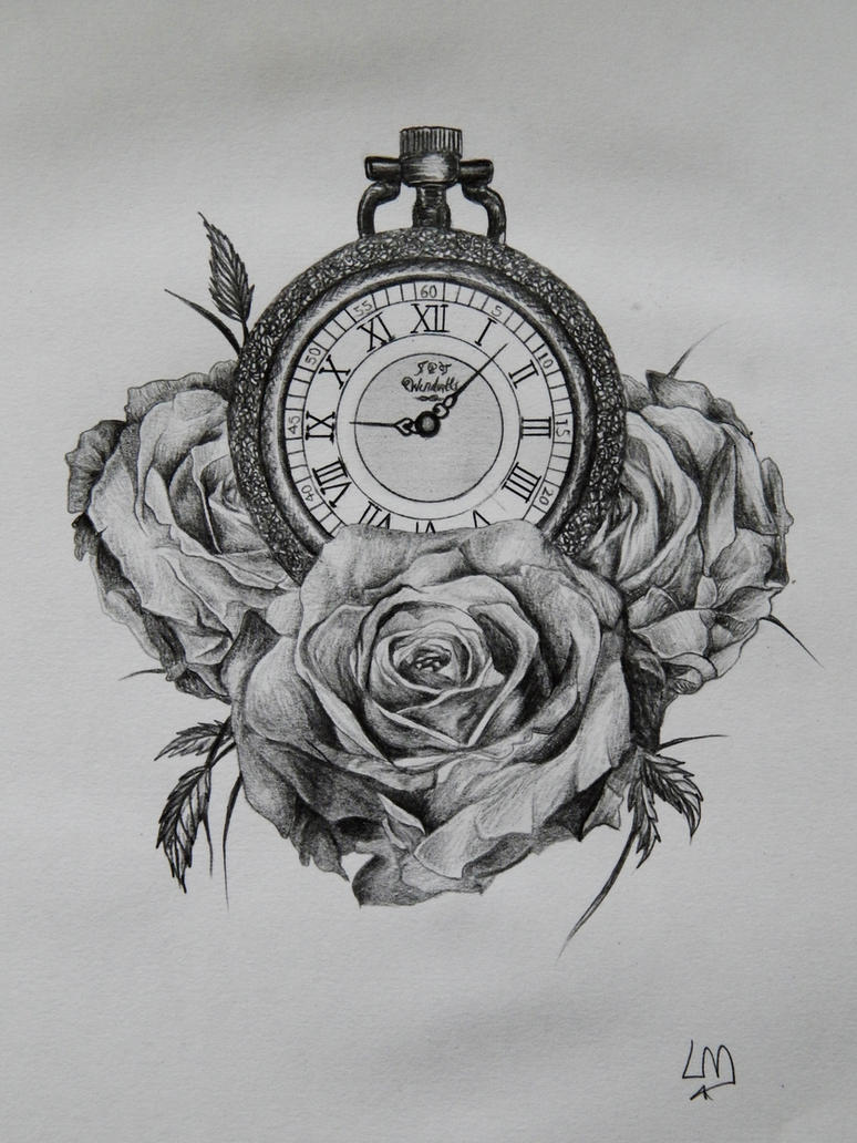 Pocket Watch Drawings: Pocket Watch Tattoo Design Sketch By Laurenmarwood On