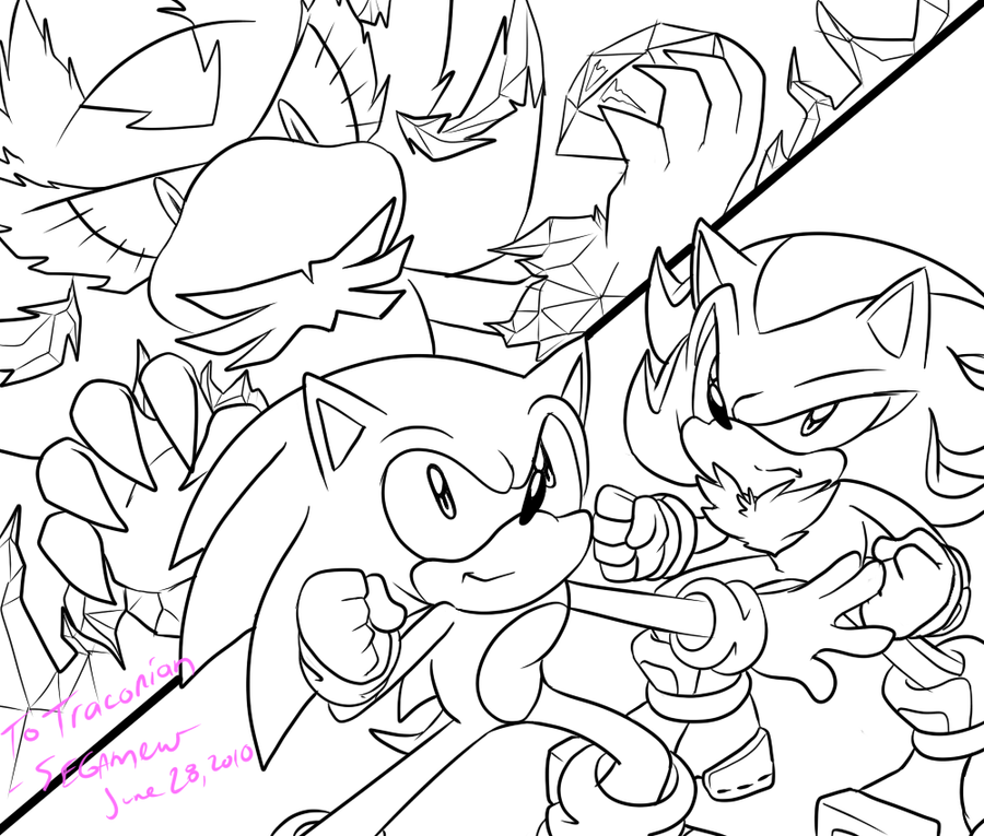 sonic mephiles coloring pages - photo#17