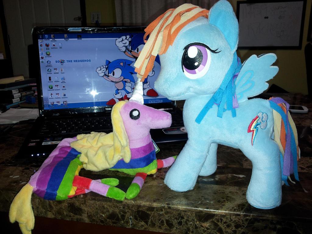 Lady Rainicorn Meets Rainbow Dash by SEGAMew