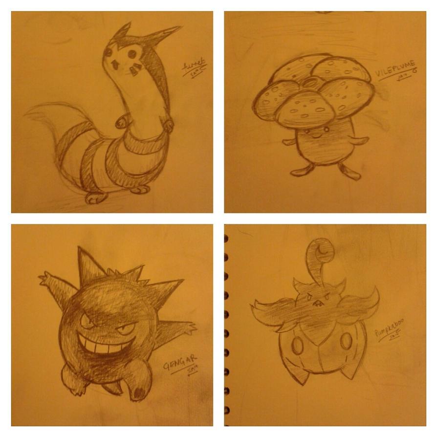 Pokemon Sketches by SAMtheAvenger