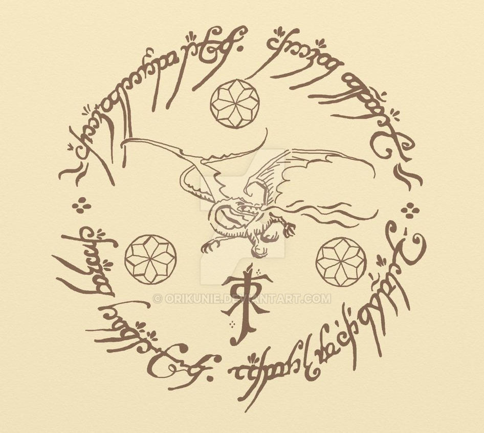 Tolkien Tattoo Ispired By Orikunie On Deviantart