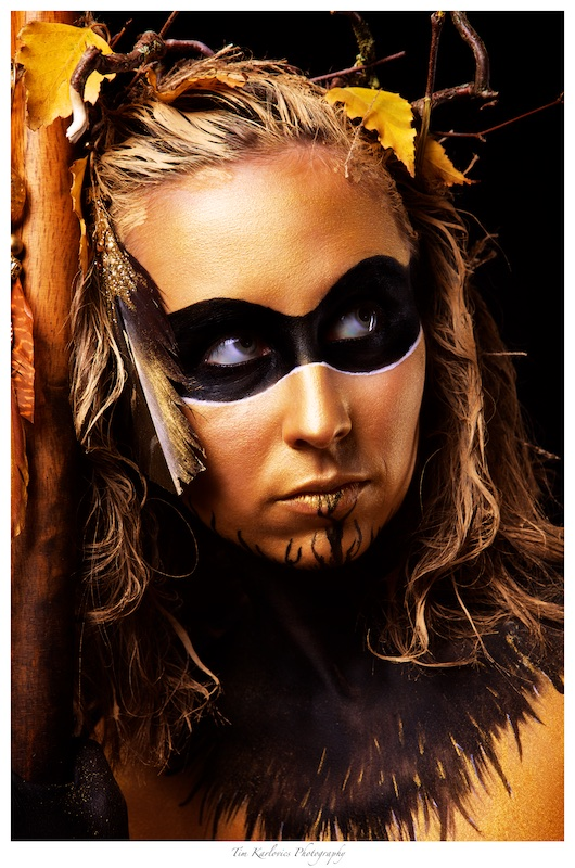 Golden Amazon Portrait by thecrow1976