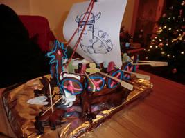 Gingerbread Viking Ship - MS Kitty