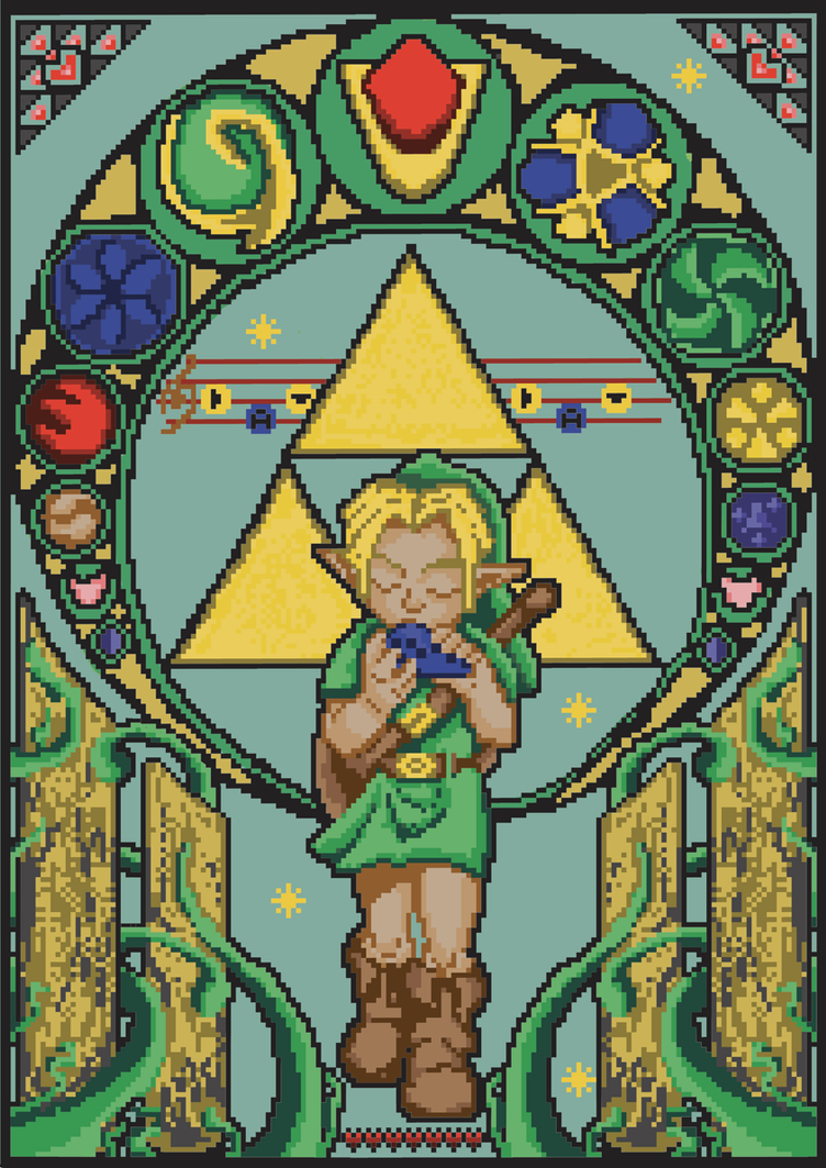 ocarina of time art nouveau by thirdhandharpy on deviantart