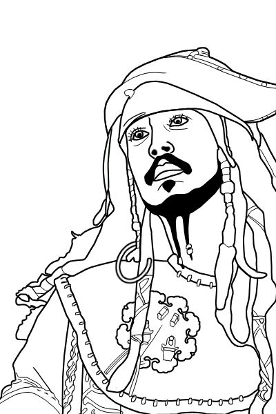 Jack Sparrow S Lineart By Bl4k On Deviantart