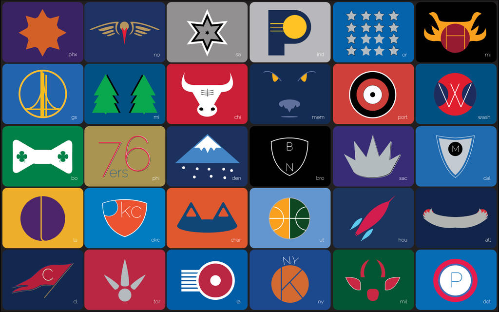 NBA Teams Minimalistic Macbook Pro Wallpaper By Jkerp19