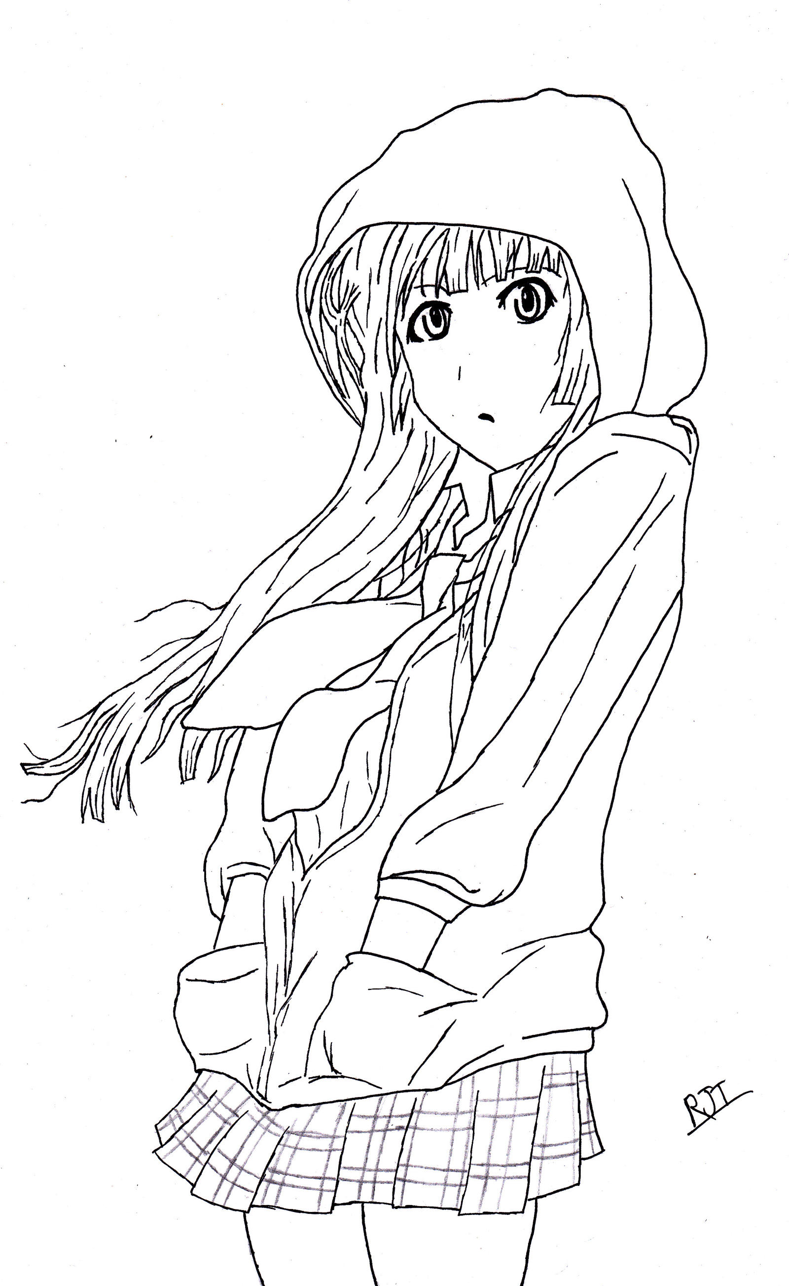 Line Art Thank You : Mio akiyama no thank you k on line art by waaaghzag