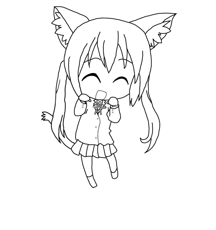 Digital Line Art : Azunyan k on digital line art bmp by waaaghzag