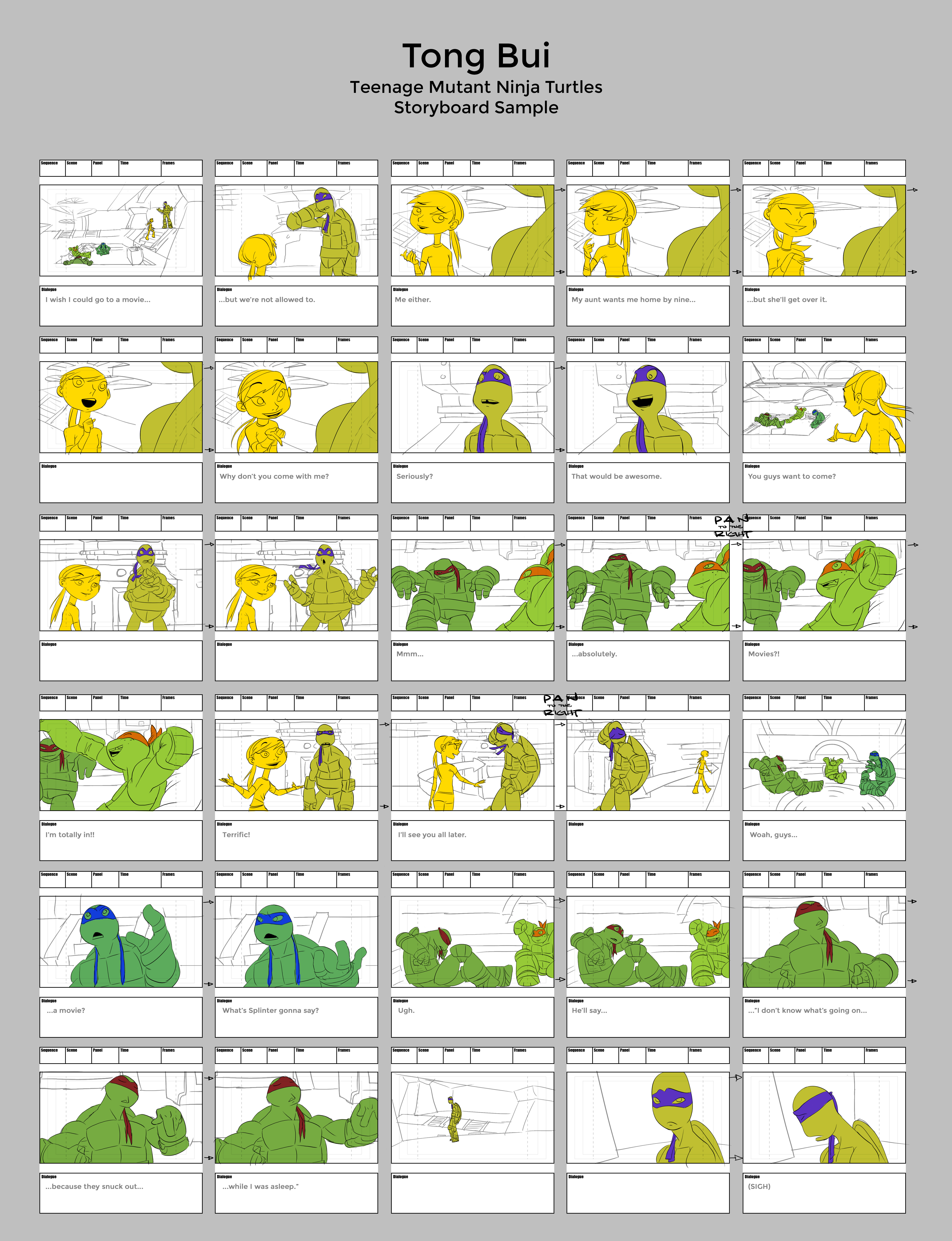 TMNT Storyboard Sample by Tongman on DeviantArt – Storyboard Sample