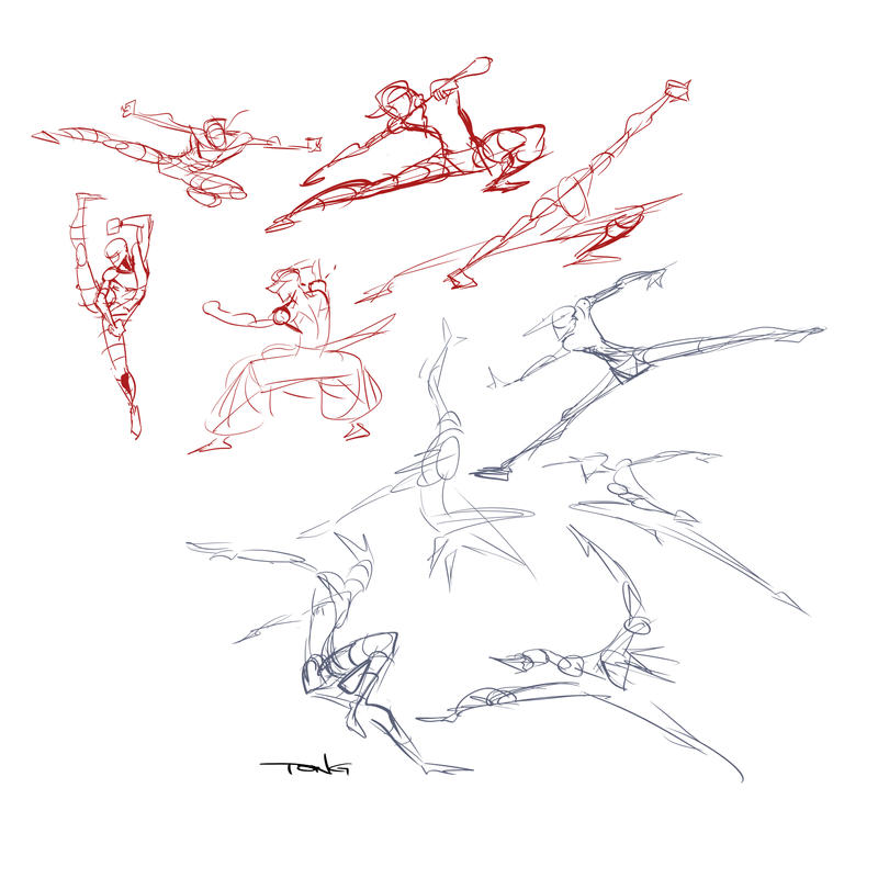 Dynamic Tendencies WIP Sketches by Tongman