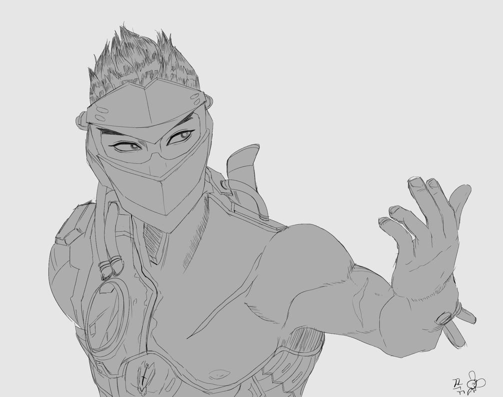 how to draw genji overwatch