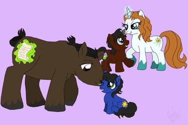 JCA: Tohru and Sarah Family as Ponies by TheLastUnicorn1985