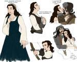 The Hobbit : OC : Kelda Sketches