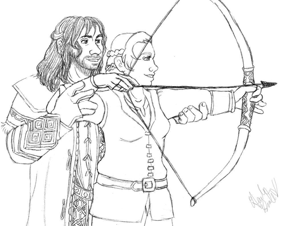 Hobbit oc kiliandkelda let me teach you by for The hobbit coloring pages