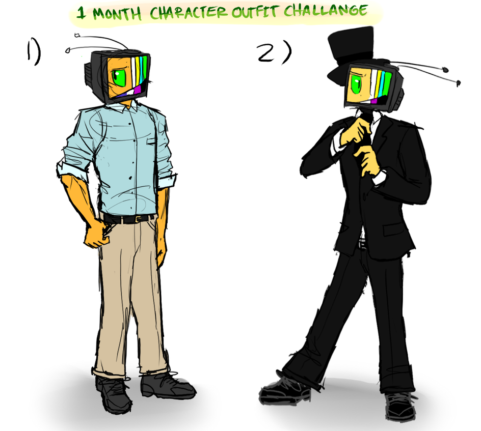 Character Outfit Challenge! Days 1 and 2 by OatsAndToast on DeviantArt
