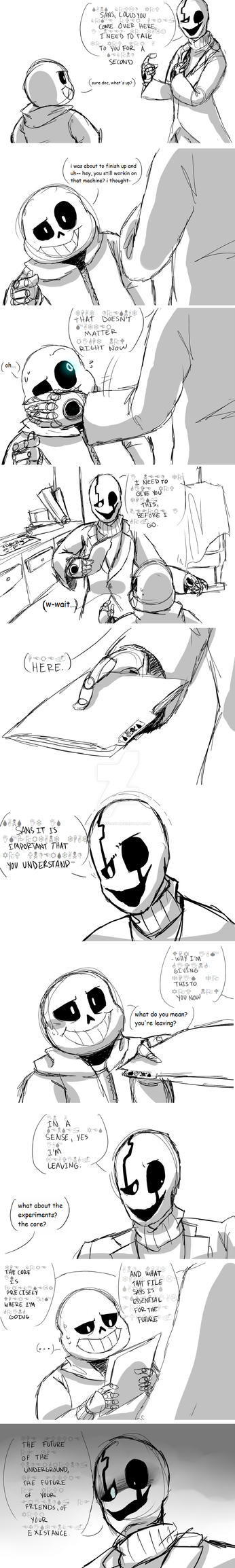 Gaster's Farewell [PART 1 of 4] by OatsAndToast