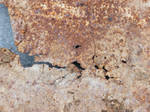scratched rusty board by Didier-Bernard