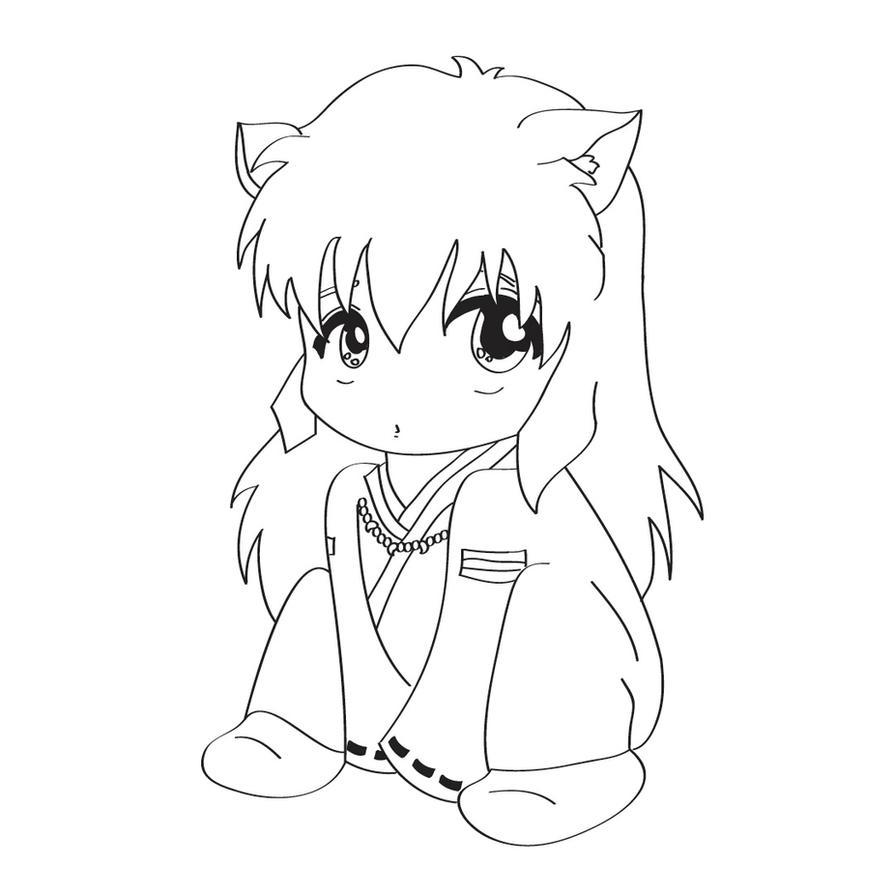 chibi inuyasha coloring pages - photo#3
