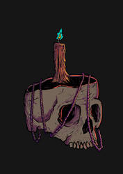 Skull, Chain and Candle by DeathAnarchy