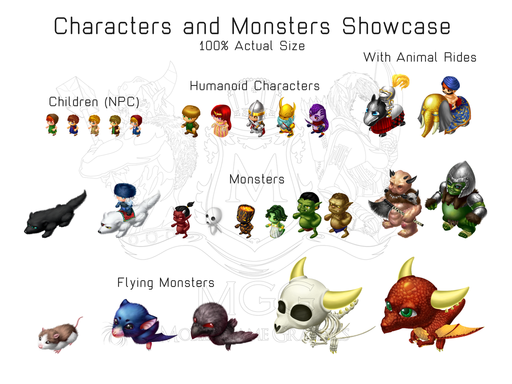 Characters and Monsters by JohanneLight