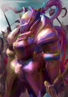 Purple Templar by KazukiAce