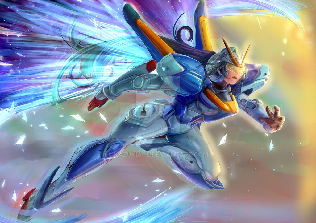 V Gundam MSGirl by KazukiAce