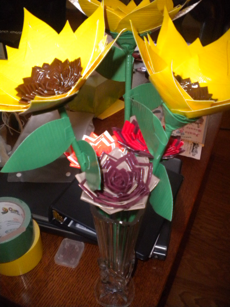 Duct Tape Flower Boquet by SharpieObsessed