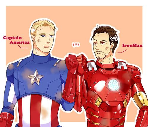 captain america iron man by kamasoutras on deviantart