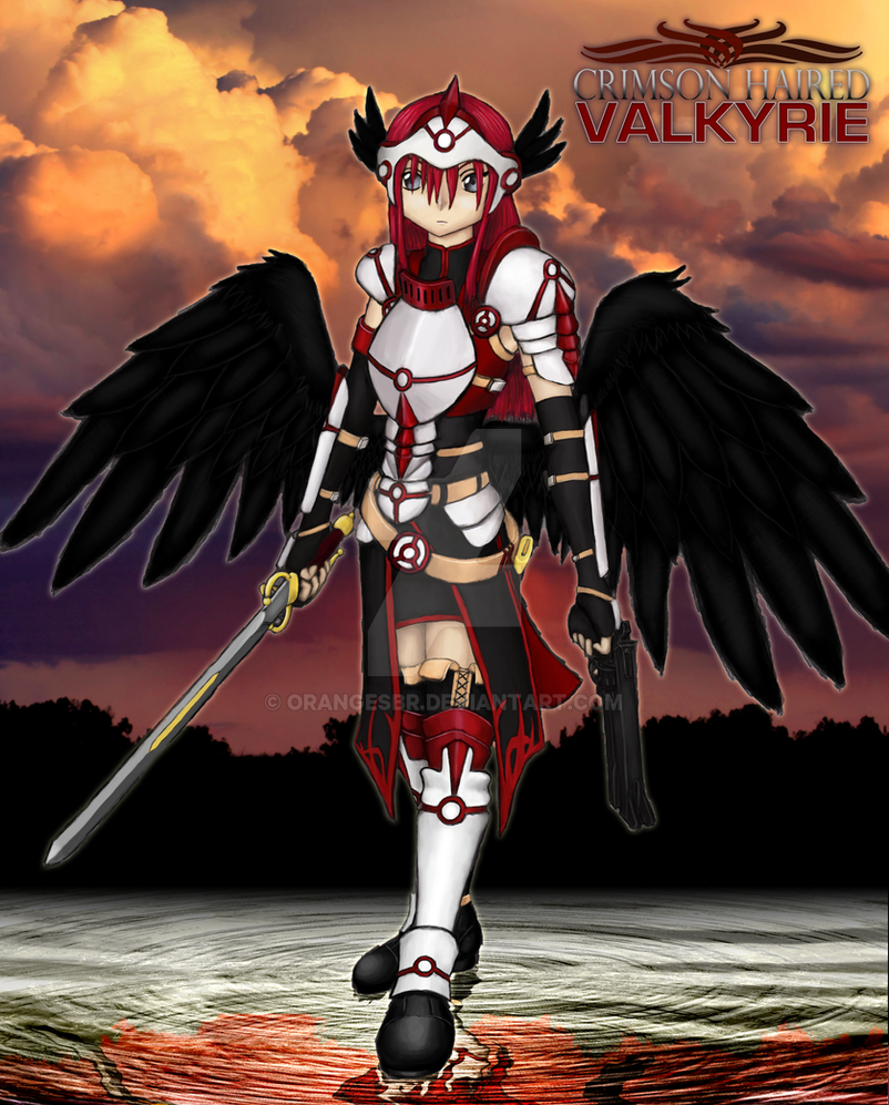 Crimson-Haired Valkyrie 3 by OrangeSbr