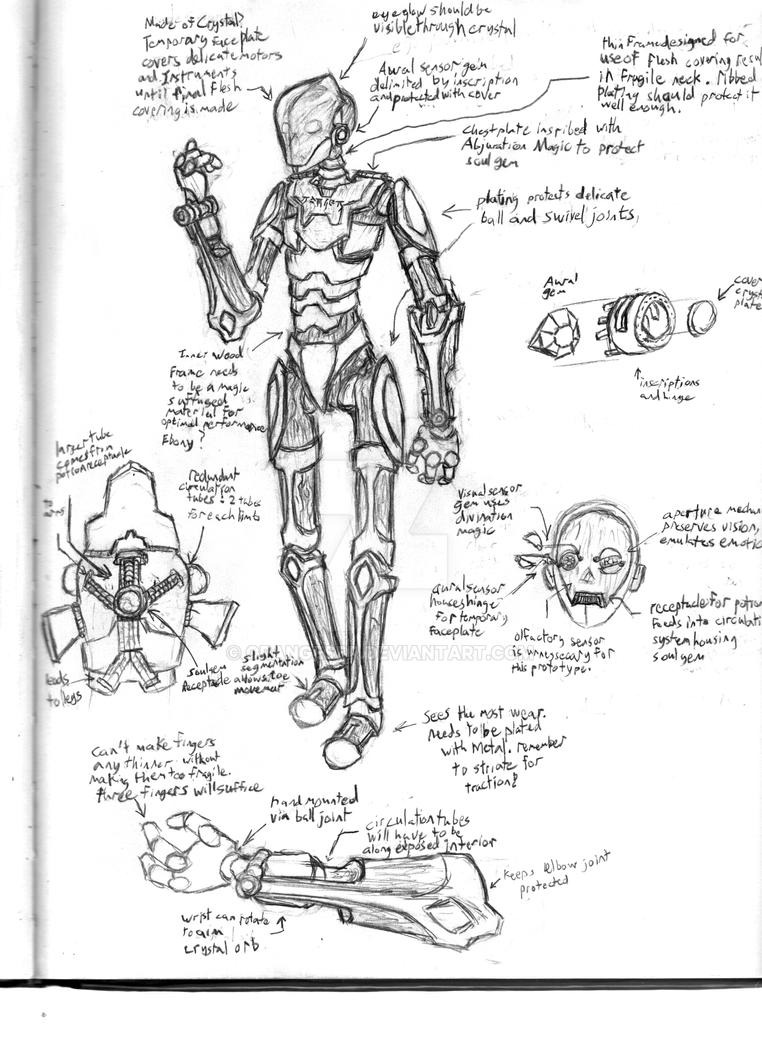 Project 'Sheath': Warlock Warforged by OrangeSbr