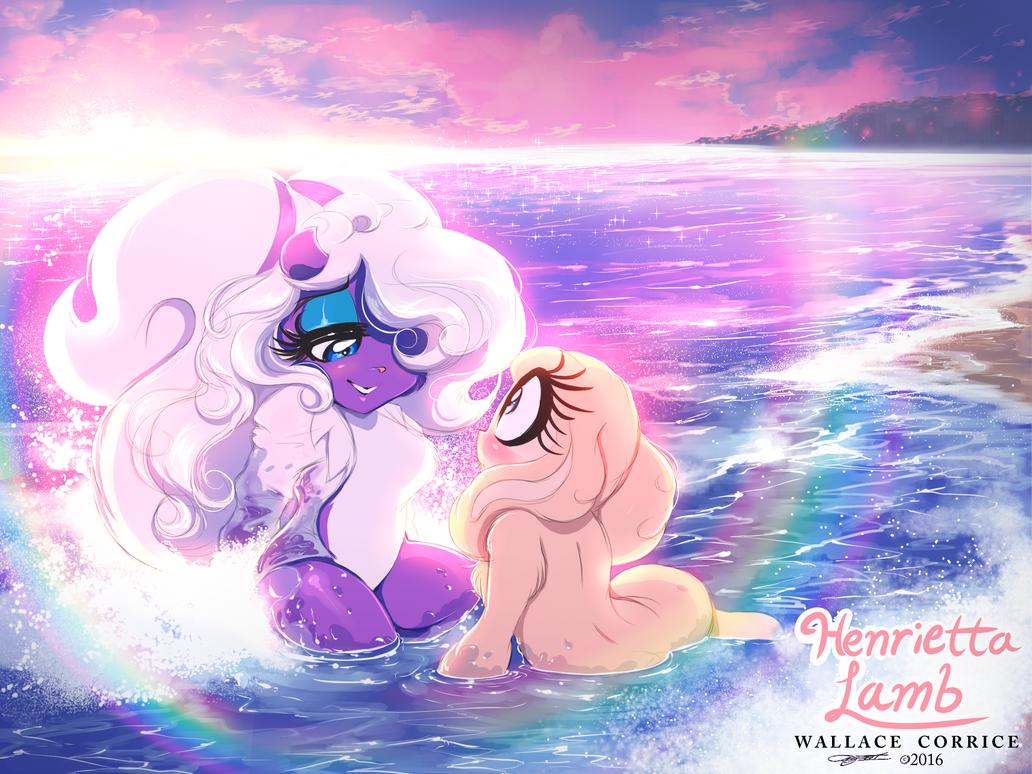 Henrietta Lamb: Splashy Valentine Beach by HenriettaLamb